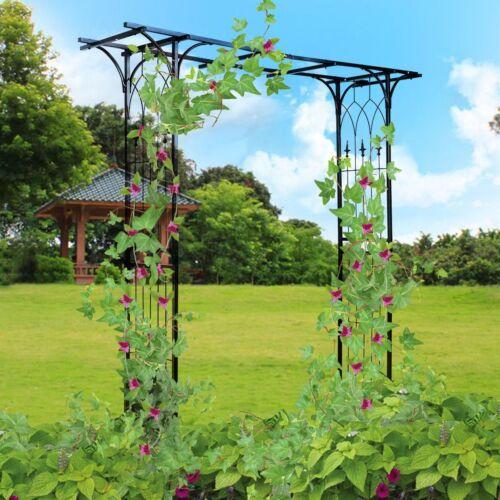 Steel Pergola Archway Outdoor Garden Trellis Metal Wedding
