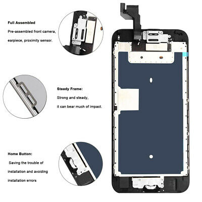 For iPhone 6S 8 6 7 Plus LCD Dispaly Touch Screen Complete Replacement + Button 7