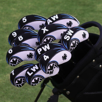 11pcs Shield Golf Iron Club Covers Headcovers For Mizuno Titleist Cobro Set New 2