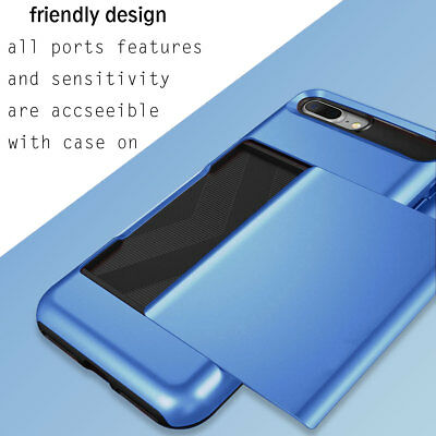 Fits Apple iPhone Case Protective Wallet ID Credit Card Holder Shockproof Cover 2