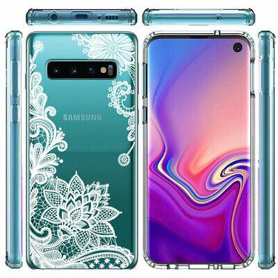 Galaxy Note 10 Plus 10+ S10e S10+ Case Mandala Lace Clear Bumper Cover F Samsung 6
