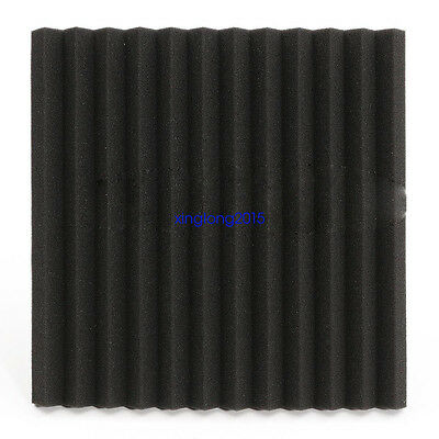 "24 Pack Acoustic Wedge Studio Soundproofing Foam Wall Tiles 12"" X 12"" X 1"" 5"