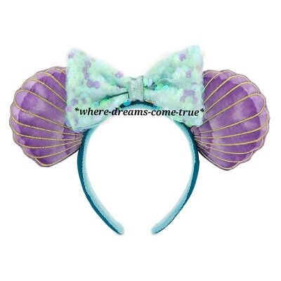 Disney Parks Ariel Ear Seashell Headband - The Little Mermaid 30th Anniversary! 3
