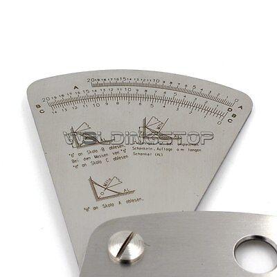 Welding Gauge Fan-shaped Sector Gage Ruler Weld Inspection Stainless Steel 0-20