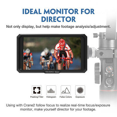 "Feelworld Master MA5 5"" Camera Field Monitor 4K HDMI 8V DC in/Out Shipping DHL 2"