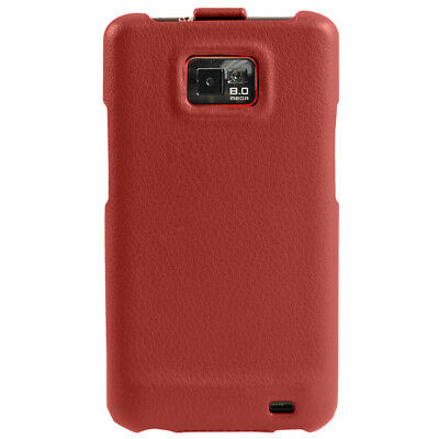 Red Leather Case Cover for Samsung i9100 Galaxy S2 II Android Smartphone Holder 4