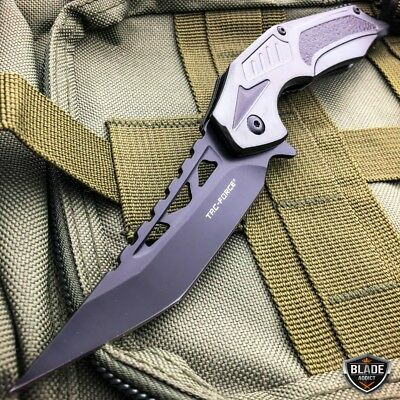 "8.25"" Tac-Force Spring Assisted Open Combat Tactical Folding Open Pocket Knife 2"