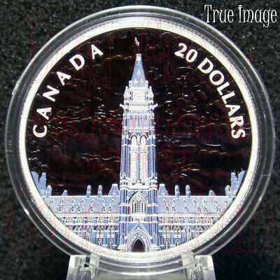 Low COA 2019 Lights of Parliament Hill $20 1OZ Pure Silver Glow-In-The-Dark Coin 2