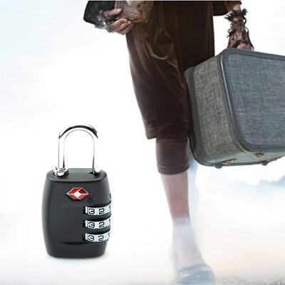 TSA  Luggage Locks 3 Digit Combination Steel Padlocks Approved Travel Lock 3