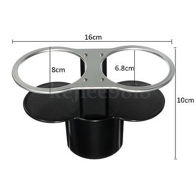 Double Car Cup Bottle Base Drinking Drink Holder Dual Wedge Beverage Stand Mount