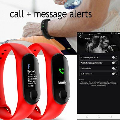 Smart Band Watch Bracelet Wristband Fitness Tracker Blood Pressure HeartRate M3s 8