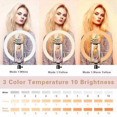 """10"""" LED Ring Light with Stand for Youtube Tiktok Makeup Video Live Phone Selfie 2"""