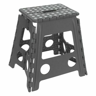 Large Multi-Purpose Fold Step Stool Plastic Home Kitchen Foldable Easy Assorted 3