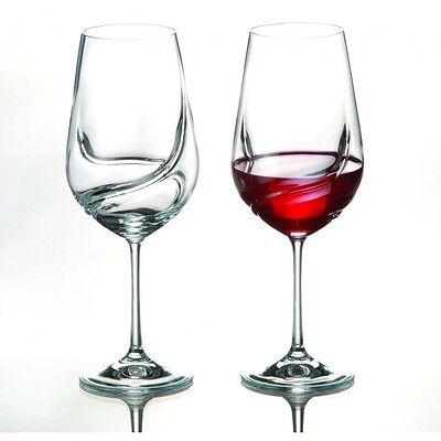 Turbulence 550 ml Crystal Wine Glasses - Set of Two - Bohemia Crystal 2