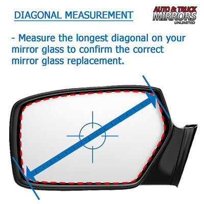 ADHESIVE 03-09 HUMMER H2 Passenger Side RH **FAST SHIPPING** NEW Mirror Glass