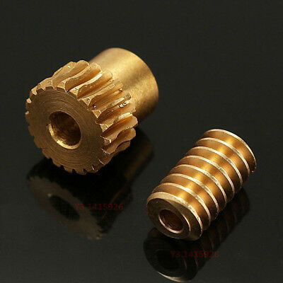 0.5 Modulus 1:10 Reduction Ratio 20Tooth Gear Motor Brass Copper Worm Wheel Gear 5