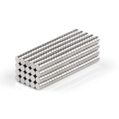 50/100 Neodym Mini-Magnete Scheiben-Magnete 2x1mm rund - extra-starke Haftkraft