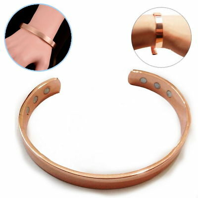 Copper Bracelet Magnetic Healing Bio Therapy Arthritis Pain Relief Bangle Cuff 7