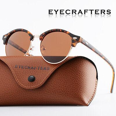 Fashion Vintage UV400 Outdoor Shades Women Mens Retro Round Polarized Sunglasses 4