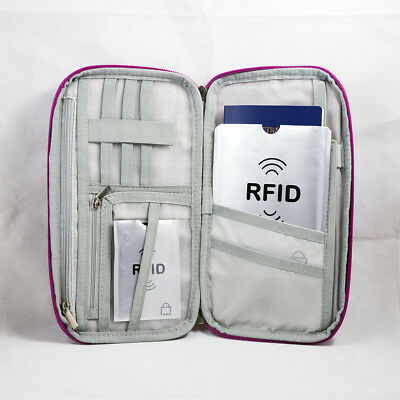 RFID Travel Wallet Passport Card Holder Pouch Organiser iPhone XS Zip Case Tag 2