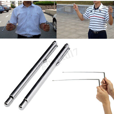 2pc Sliver Brass Dowsing Divining Rods Water Witching Stick Lost Detector Rakish