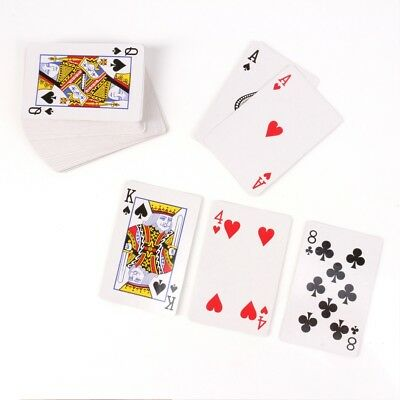 2x DECKS WATERPROOF PLASTIC COATED PLAYING CARDS Poker Gaming Casino Magic Toy
