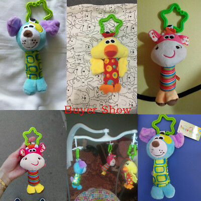 Baby Infant Rattles Plush Animal Stroller Hanging Bell Play Toy Soft Bed Doll FA 3