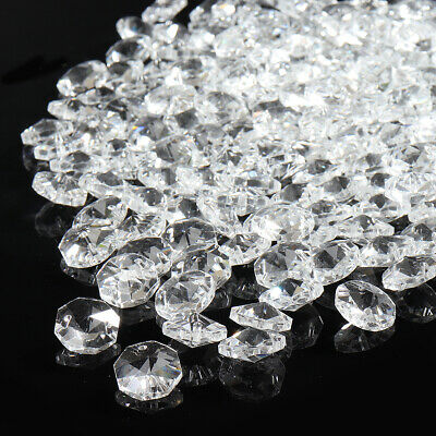 200 CHANDELIER LIGHT Silica gel  CRYSTALS DROPLETS GLASS BEADS DROPS 14mm LAMP 7