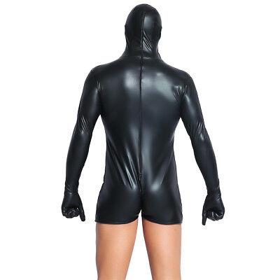 Black Sensory Deprivation Mask Blindfold Breathable Jumpsuit Bondage Hood Gloves 6