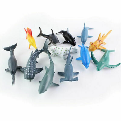 24X Plastic Ocean Animals Figure Sea Creatures Dolphin Turtle Whale Model Toys 5