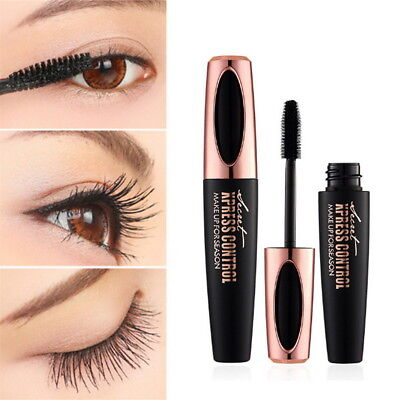 Black 4D Silk Fiber Eyelash Mascara Extension Makeup Waterproof Kits Eye Lashes 7
