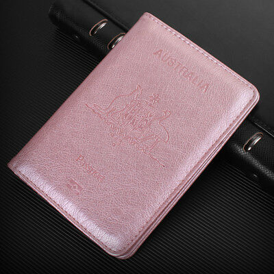 PU Leather RFID Blocking Passport Travel Wallet Holder ID Cards Cover Case 5
