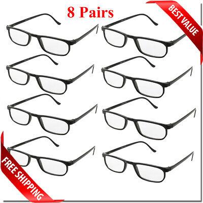 Reading Glasses Lens 2,4,8,12 Pack Lot Classic Reader Unisex Men Women Style Lot 3
