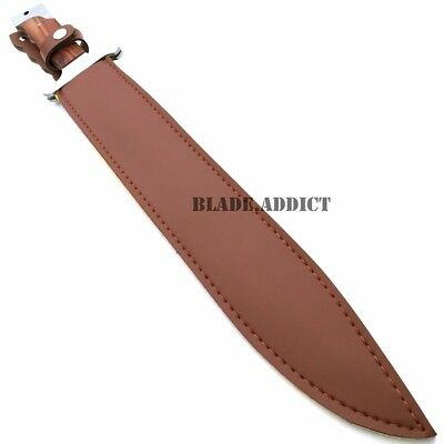 """2 Pc 18"""" Full Tang Sword Machete Tactical Survival Hunting Fixed Blade Knife Set 4"""