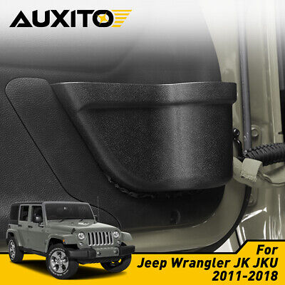 Door Storage Pockets for 2011-2018 Jeep Wrangler JK JKU 2-Door Aupar Front Door Side Insert Storage Pockets Box