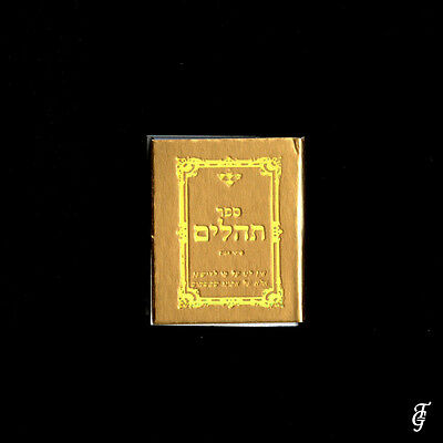 ~ Judaica Tehilim /real Holy Book Miniature  Gold / 10 3