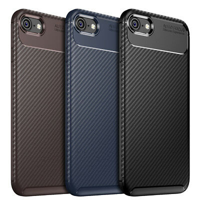 Case for iPhone Carbon Fibre Soft Cover TPU Silicone Slim X XR XS Max 8 7 6 Plus 10