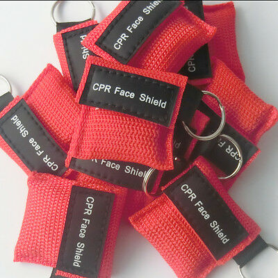 80 pcs First Aid CPR Face Shield Emergency CPR Mask Multiple Color  For Training 2