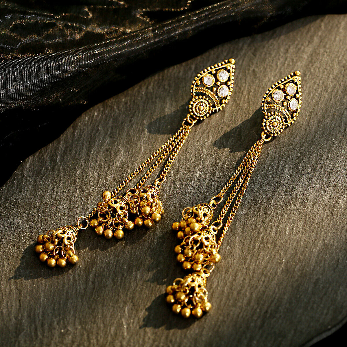Women Jewelry Bohemia Indian Charm Gold&Silver Pendant Fashion Retro Earrings 8