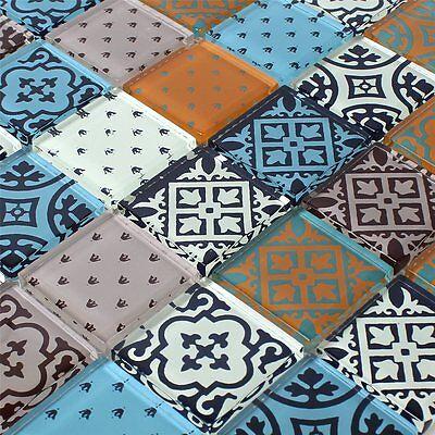 Glas Mosaik Fliesen Zementoptik Bunt Mix Eur 6 25 Picclick De