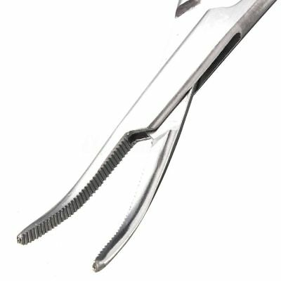 """New 2pc Fishing Set 5"""" Straight + Curved Hemostat Forceps Locking Clamps 3"""