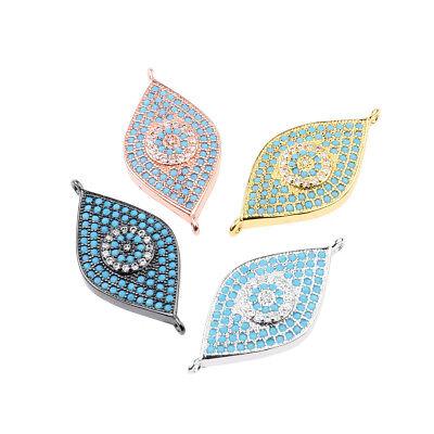 Zircon Gemstones Pave Crown Helmet Leopard Bracelet Connector Charm Loose Beads 7