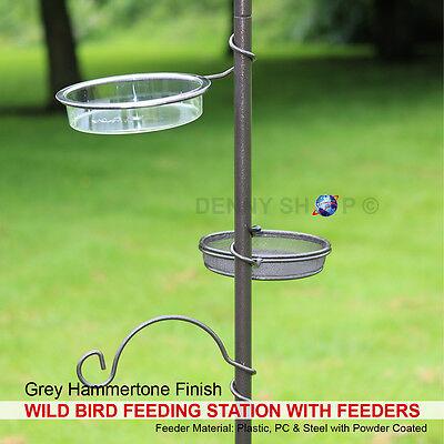 Garden Wild Bird Hanging Feeding Station Water Bath Table Seed Tray Hammertone 4