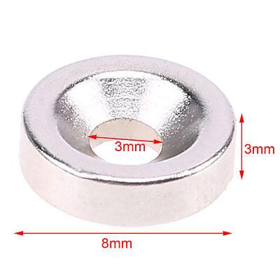 50 Stück Set Starke Magnete N50 Neodym Permanentmagnet10mm x 3mm mit 3mm Loch 2