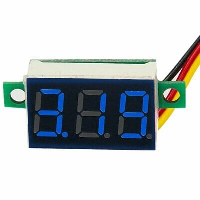 DC 0-100V Wires LED 3-Digital Mini Voltmeter Meter Display Voltage Panel Test 4