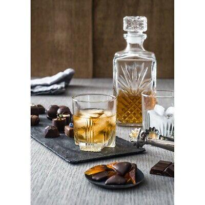 7 Glass Wine Whisky Bormioli Rocco Tumblers Whiskey Bottle Decanter Gift Box 2
