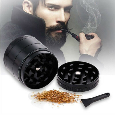 New 4-Piece Herb Grinder Spice Tobacco/Weed Smoke Zinc Alloy Crusher Leaf Design