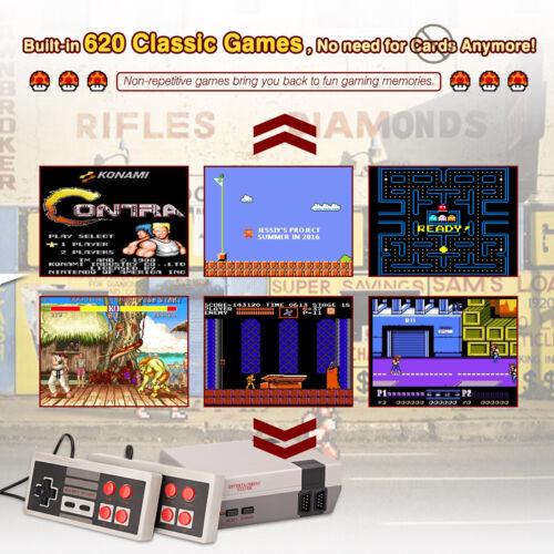 620 Built-in TV Video Games Retro Classic TV Game Console NTSC AV + 2pcs Gamepad