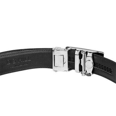 Men's Designer Leather Dress Belt With Sliding Ratchet Automatic Buckle Holeless 8