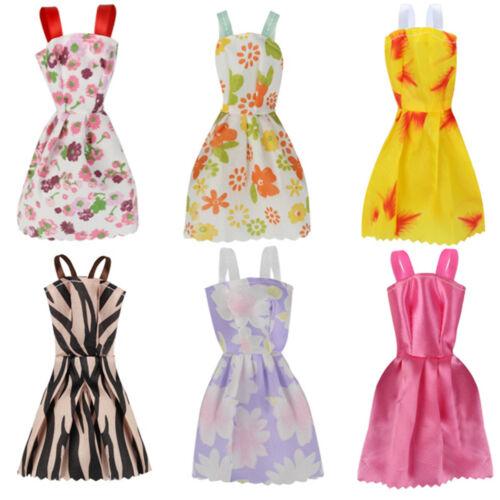 12Pcs/Set Barbie Doll Clothes Dress Fashion Wedding Party Gown Decor Kids Gift 6